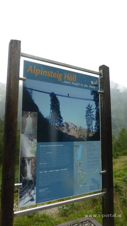 Abstieg am Alpinsteig